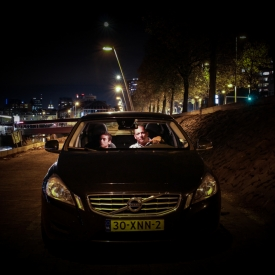 Bij de skyline van Rotterdam