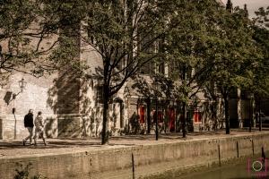 Bij de Grote kerk van Dordrecht